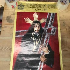 Carteles de Semana Santa: CARTEL IV CENTENARIO HISTORIA NAZARENO DE CADIZ 1591-1991 - SEMANA SANTA - MEDIDA 88,5X46,5 CM. Lote 210604296