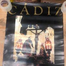 Carteles de Semana Santa: CARTEL OFICIAL SEMANA SANTA DE CADIZ 1999 - MEDIDA 82X58 CM. Lote 210661125