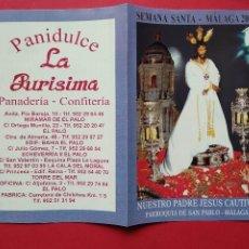 Carteles de Semana Santa: ITINERARIO Y HORARIO DE SEMANA SANTA EN MALAGA AÑO 2003 LA PURISIMA. Lote 213479690