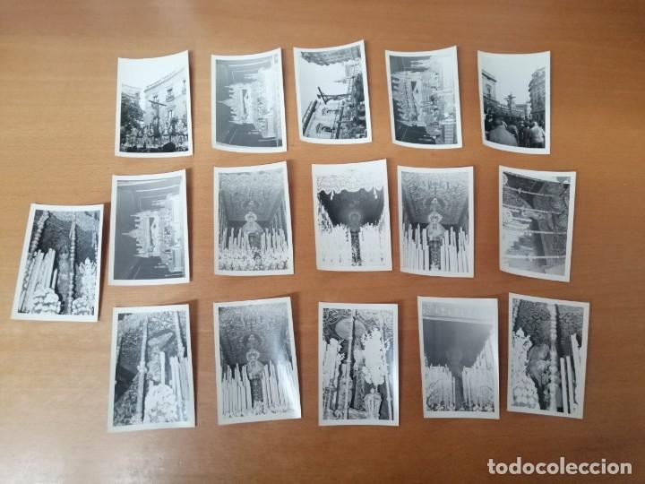 Carteles de Semana Santa: ESPECTACULAR LOTE FOTOGRAFÍAS SEMANA SANTA SEVILLA. 66 FOTOS. ARCHIVO FOTÓGRAFO. AÑOS 70-80 - Foto 9 - 215892112