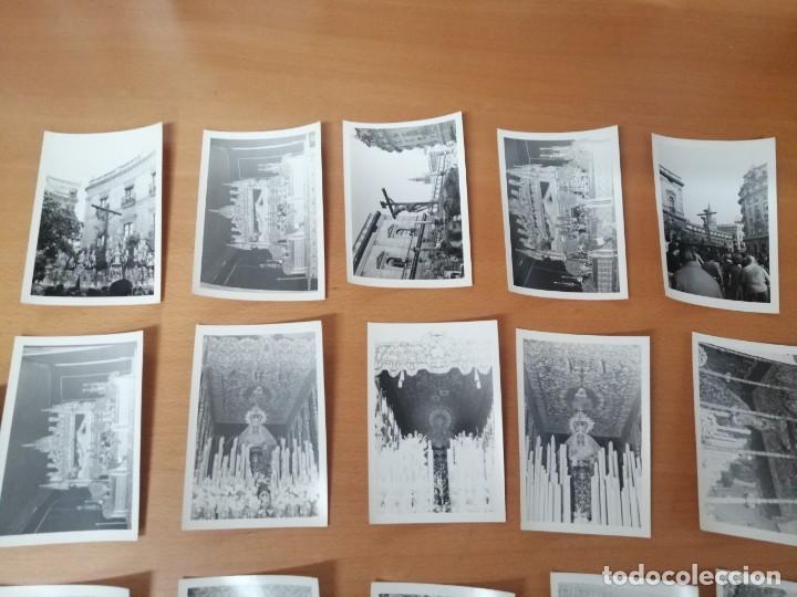Carteles de Semana Santa: ESPECTACULAR LOTE FOTOGRAFÍAS SEMANA SANTA SEVILLA. 66 FOTOS. ARCHIVO FOTÓGRAFO. AÑOS 70-80 - Foto 10 - 215892112