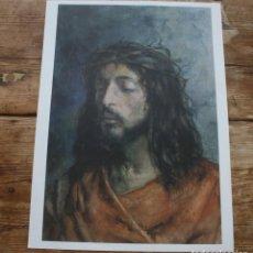 Carteles de Semana Santa: ECCE HOMO: LAMINA OBRAS MAESTRAS DEL SIGLO XIX MUSEO BELLAS ARTES MALAGA, MARTINEZ DE LA VEGA LEASE. Lote 217837800