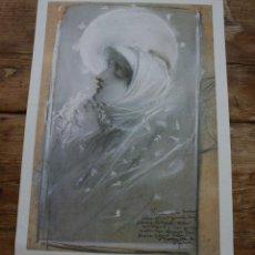 Carteles de Semana Santa: DOLOROSA: LAMINA OBRAS MAESTRAS DEL SIGLO XIX MUSEO BELLAS ARTES MALAGA, MARTINEZ DE LA VEGA LEASE. Lote 217838797