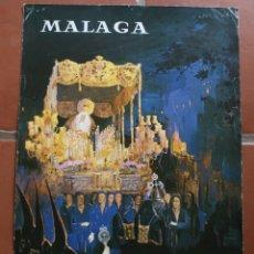 Carteles de Semana Santa: ANTIGUO CARTEL POSTER MALAGA SEMANA SANTA 1982 – 47 X 33 CM CARTONÉ – ESTADO TAL CUAL LA FOTOGRAFIA. Lote 218221368