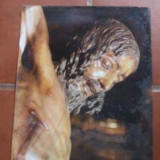 Carteles de Semana Santa: ANTIGUO CARTEL POSTER CRISTO DE MENA MALAGA SEMANA SANTA 50 X 35 CM – ESTADO TAL CUAL LA FOTOGRAFIA. Lote 218225220