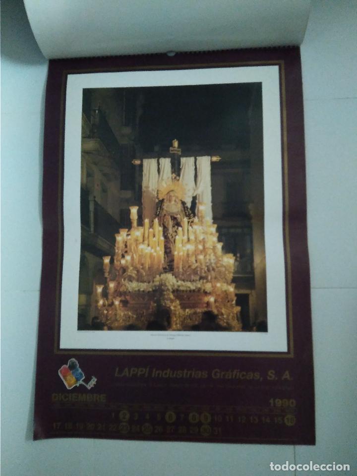 Carteles de Semana Santa: Semana Santa Sevilla Calendario Pared 1990 13 laminas color - Foto 2 - 218250673