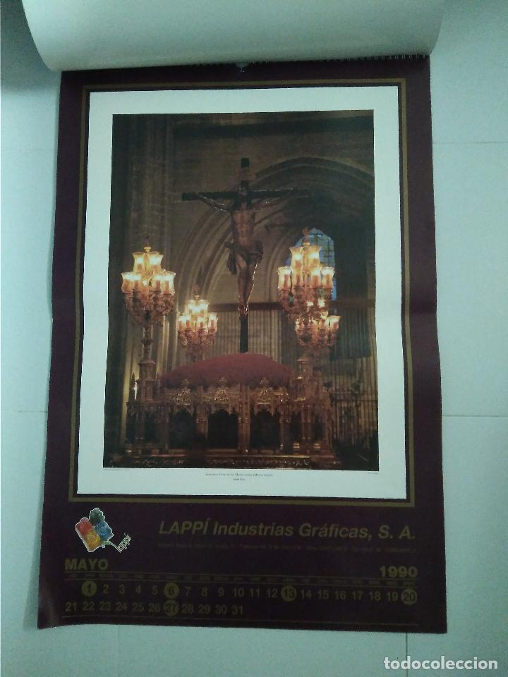 Carteles de Semana Santa: Semana Santa Sevilla Calendario Pared 1990 13 laminas color - Foto 3 - 218250673