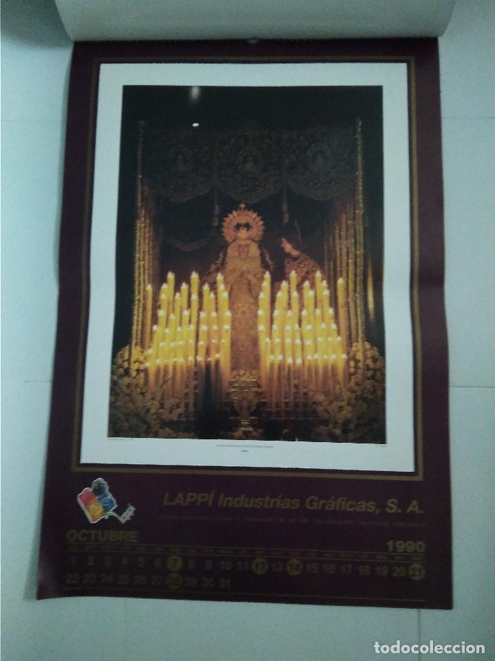 Carteles de Semana Santa: Semana Santa Sevilla Calendario Pared 1990 13 laminas color - Foto 4 - 218250673