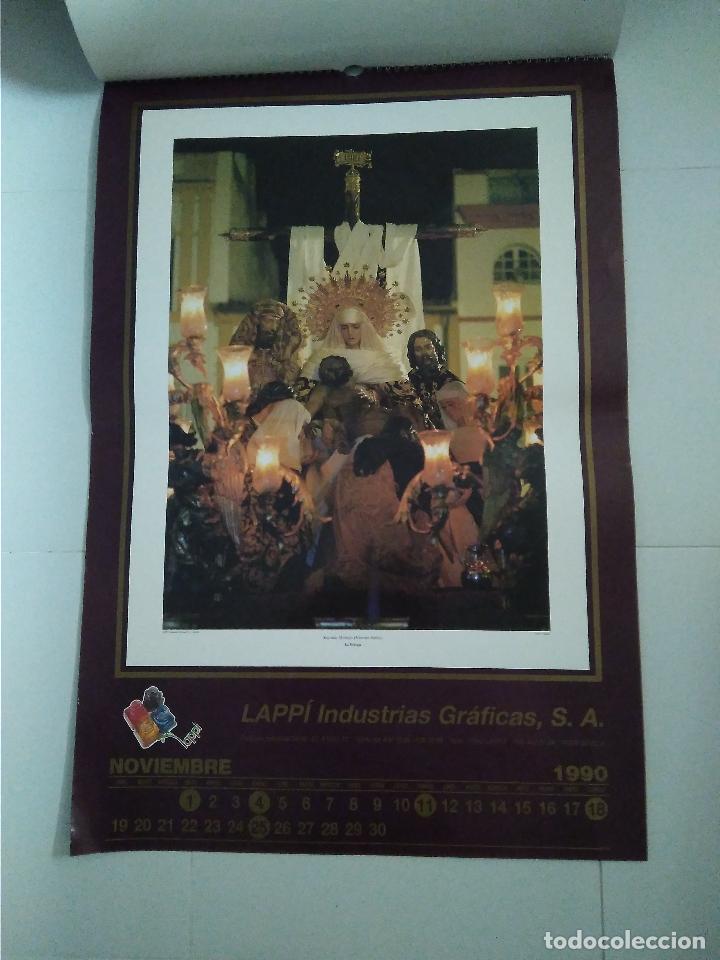 Carteles de Semana Santa: Semana Santa Sevilla Calendario Pared 1990 13 laminas color - Foto 5 - 218250673