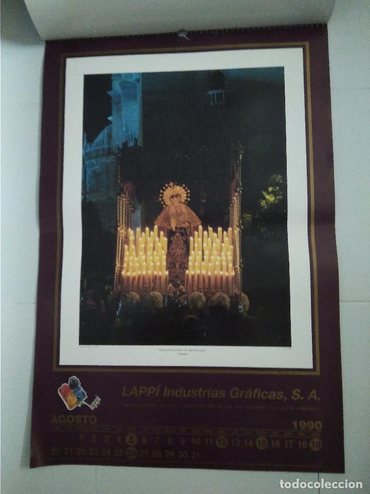 Carteles de Semana Santa: Semana Santa Sevilla Calendario Pared 1990 13 laminas color - Foto 6 - 218250673
