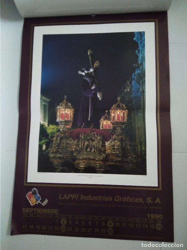 Carteles de Semana Santa: Semana Santa Sevilla Calendario Pared 1990 13 laminas color - Foto 7 - 218250673
