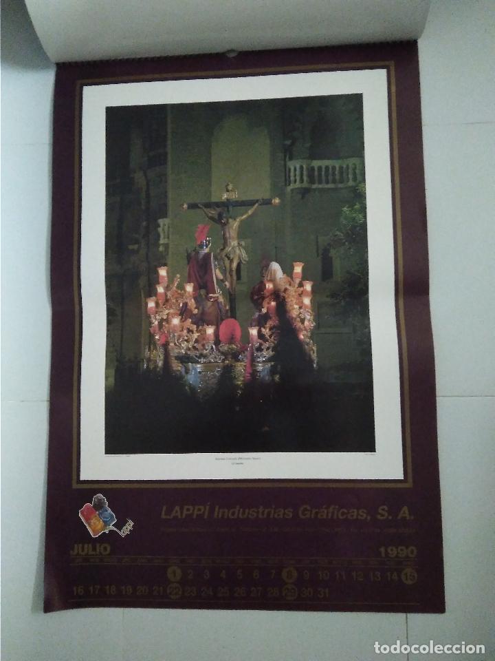 Carteles de Semana Santa: Semana Santa Sevilla Calendario Pared 1990 13 laminas color - Foto 8 - 218250673