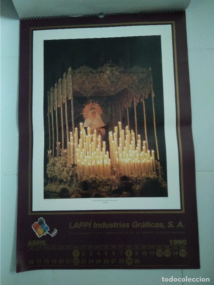 Carteles de Semana Santa: Semana Santa Sevilla Calendario Pared 1990 13 laminas color - Foto 9 - 218250673