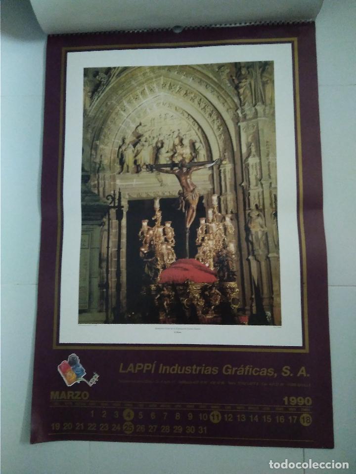 Carteles de Semana Santa: Semana Santa Sevilla Calendario Pared 1990 13 laminas color - Foto 10 - 218250673