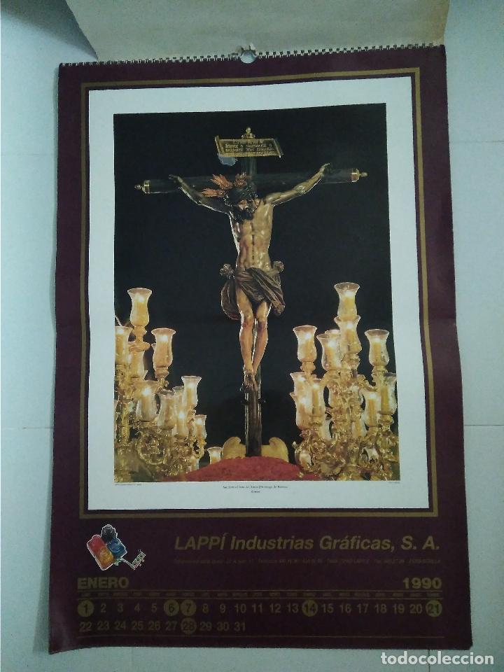 Carteles de Semana Santa: Semana Santa Sevilla Calendario Pared 1990 13 laminas color - Foto 11 - 218250673