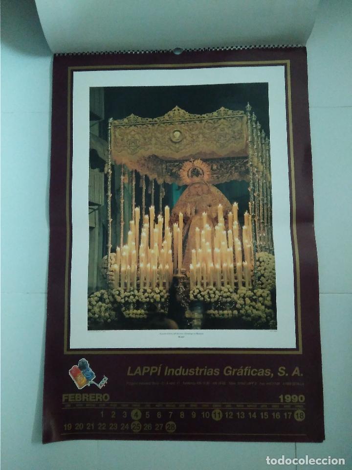 Carteles de Semana Santa: Semana Santa Sevilla Calendario Pared 1990 13 laminas color - Foto 12 - 218250673