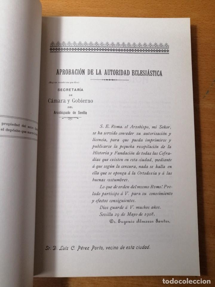 Carteles de Semana Santa: LIBRO HISTORIA SEMANA SANTA SEVILLA. Relación e Historia de las Cofradías sevillanas. 1908. - Foto 3 - 219287523
