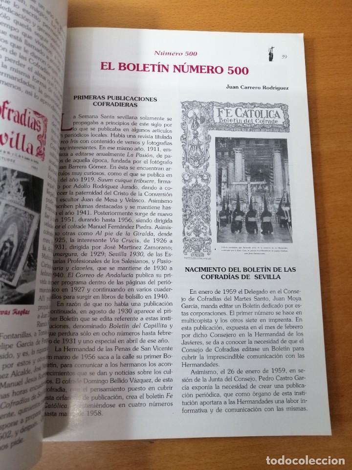 Carteles de Semana Santa: NÚMERO EXTRAORDINARIO 500 BOLETÍN COFRADÍAS DE SEVILLA. SEMANA SANTA. OCTUBRE 2000 - Foto 4 - 219311875