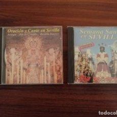 Carteles de Semana Santa: LOTE 2 CDS SEMANA SANTA SEVILLA. MARCHAS Y SAETAS.. Lote 220370017