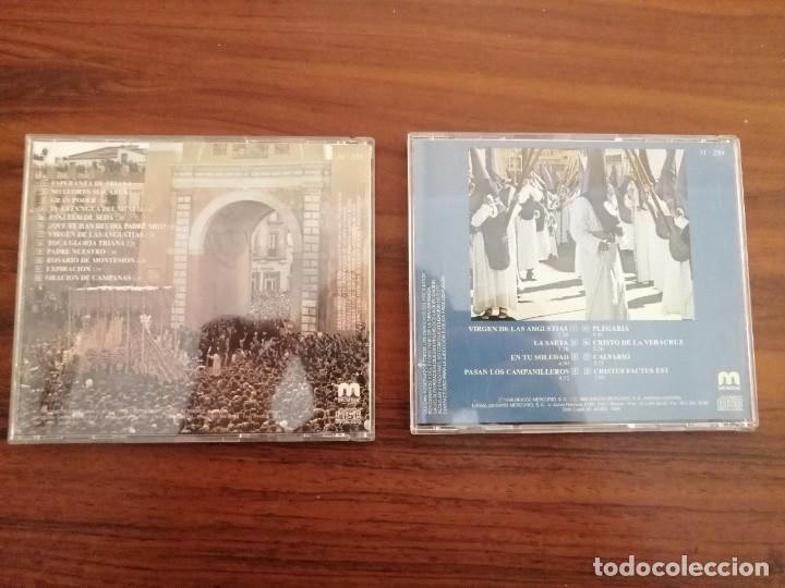 Carteles de Semana Santa: LOTE 2 CDs SEMANA SANTA SEVILLA. MARCHAS Y SAETAS. - Foto 2 - 220370017