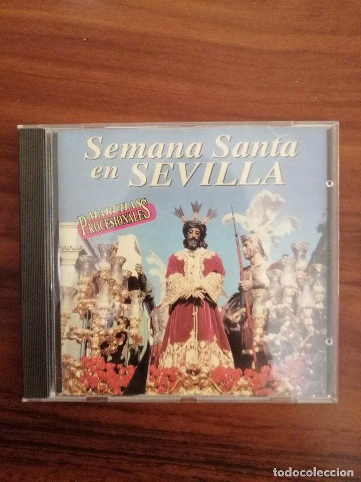 Carteles de Semana Santa: LOTE 2 CDs SEMANA SANTA SEVILLA. MARCHAS Y SAETAS. - Foto 5 - 220370017