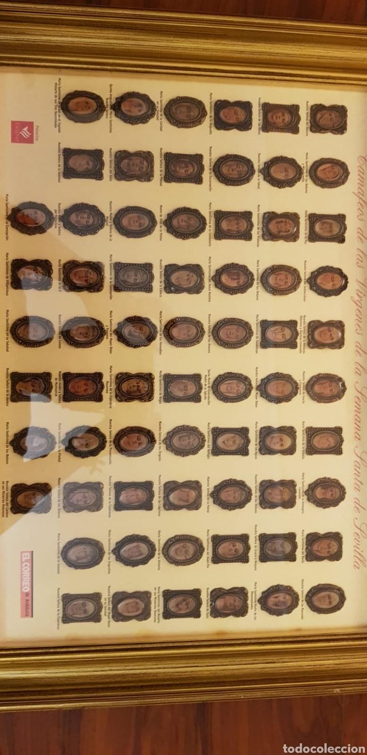 Carteles de Semana Santa: CAMAFEOS VÍRGENES SEMANA SANTA SEVILLA. COLECCIÓN COMPLETA Y ENMARCADA EN ALTA CALIDAD. - Foto 6 - 220981602