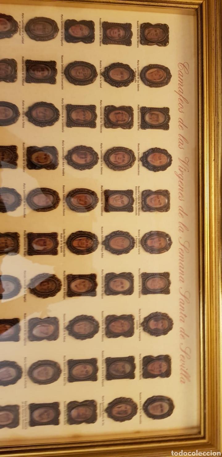 Carteles de Semana Santa: CAMAFEOS VÍRGENES SEMANA SANTA SEVILLA. COLECCIÓN COMPLETA Y ENMARCADA EN ALTA CALIDAD. - Foto 7 - 220981602