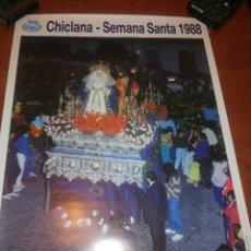 Carteles de Semana Santa: CARTEL SEMANA SANTA CHICLANA.... 1.988.... Lote 221626778