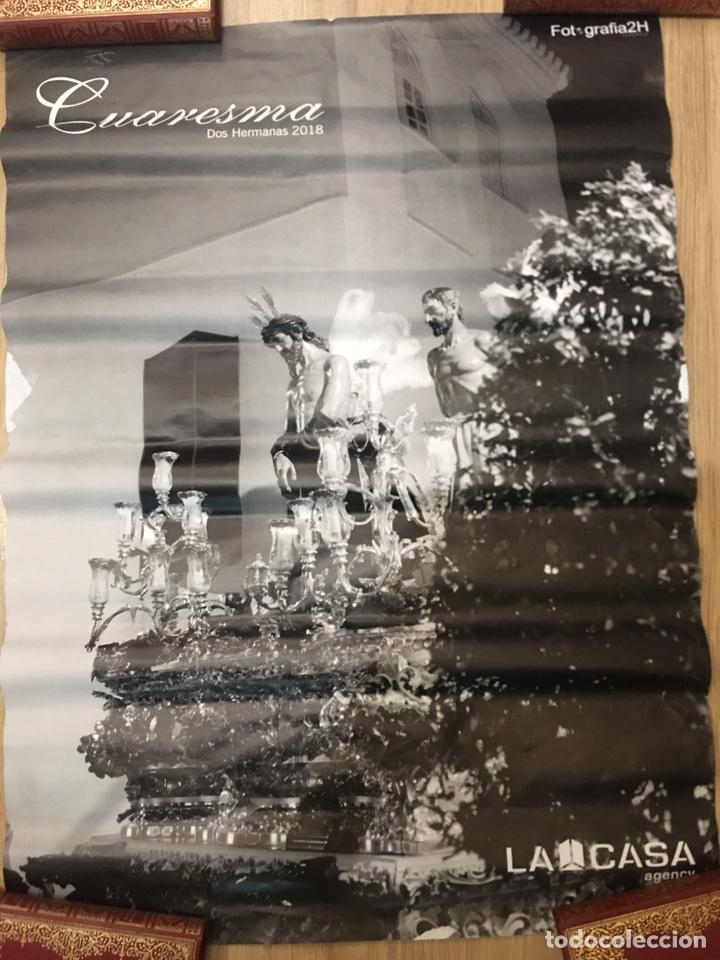 Carteles de Semana Santa: CARTEL DE SEMANA SANTA - CUARESMA DOS HERMANAS 2018 - SEVILLA - 50X70CM - Foto 2 - 222645495