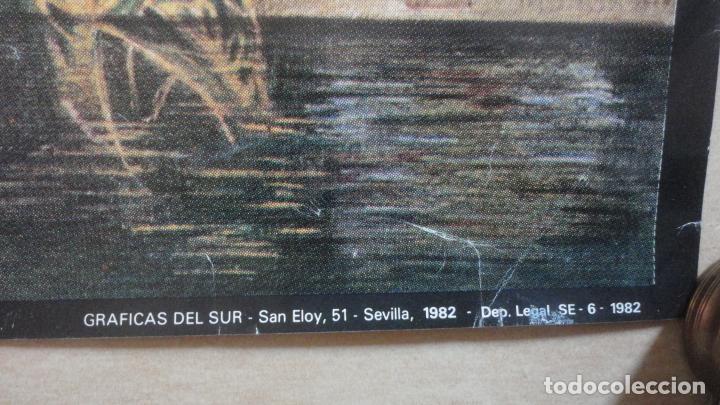 Carteles de Semana Santa: ANTIGUO CARTEL.FIESTAS DE PRIMAVERA.SEMANA SANTA Y FERIA SEVILLA 1982.MAXIMO MORENO 93 X 63.5 - Foto 4 - 222792267