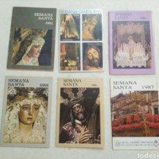 Carteles de Semana Santa: LOTE DE 6 PROGRAMAS ITINERARIOS DE COFRADÍAS DE SEVILLA CAPITAL ( AÑOS 80 ). Lote 223527497