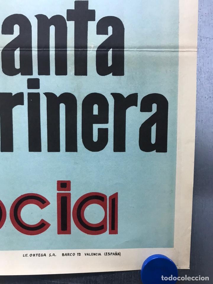 Carteles de Semana Santa: CARTEL VALENCIA, SEMANA SANTA MARINERA - AÑO 1963 - LITOGRAFIA, A. CABRERA - Foto 3 - 224427330
