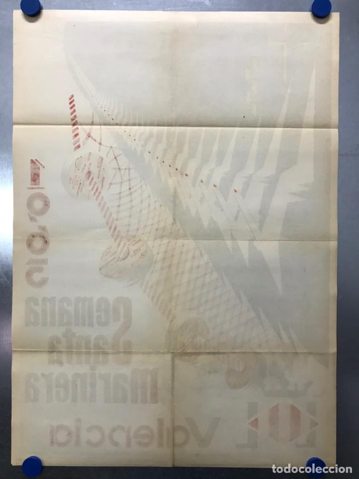 Carteles de Semana Santa: CARTEL VALENCIA, SEMANA SANTA MARINERA - AÑO 1963 - LITOGRAFIA, A. CABRERA - Foto 8 - 224427330