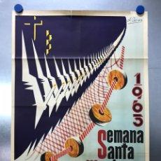 Carteles de Semana Santa: CARTEL VALENCIA, SEMANA SANTA MARINERA - AÑO 1963 - LITOGRAFIA, A. CABRERA. Lote 224427330