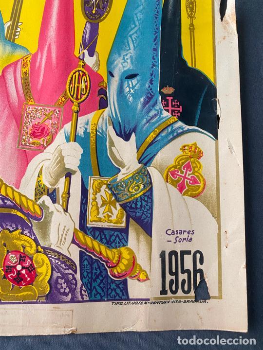 Carteles de Semana Santa: Málaga , semana santa de 1956 , cartel original , serigrafía de Soria , Casares - Foto 4 - 224969507
