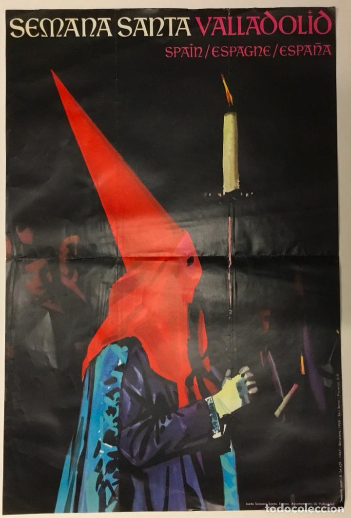 CARTEL SEMANA SANTA VALLADOLID 1968. 45X30 CM. (Coleccionismo - Carteles Gran Formato - Carteles Semana Santa)