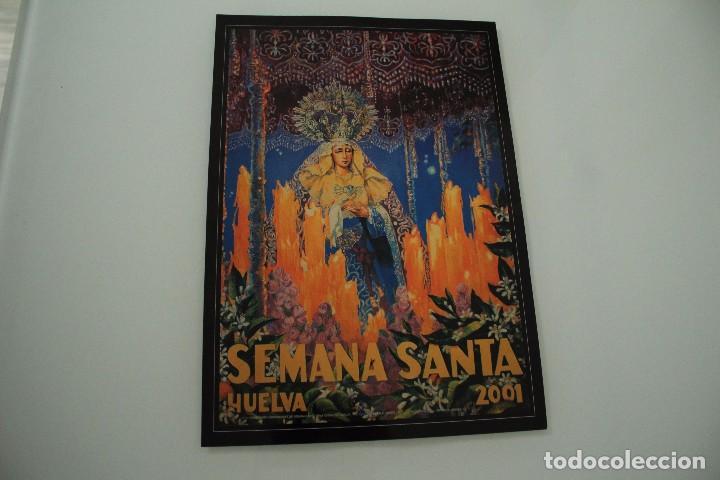 CARTEL DE SEMANA SANTA HUELVA PERIÓDICO ODIEL AÑO 2001 (Coleccionismo - Carteles Gran Formato - Carteles Semana Santa)