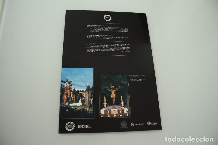 Carteles de Semana Santa: CARTEL DE SEMANA SANTA HUELVA PERIÓDICO ODIEL AÑO 2001 - Foto 2 - 234397290