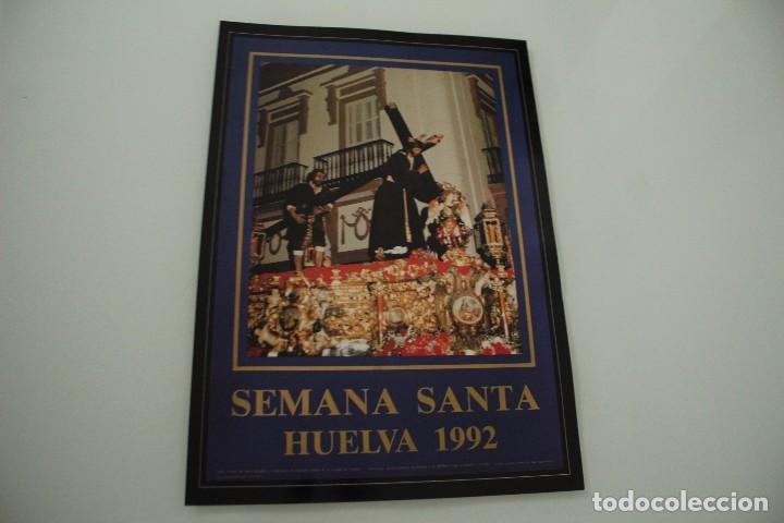 CARTEL DE SEMANA SANTA HUELVA PERIÓDICO ODIEL AÑO 1992 (Coleccionismo - Carteles Gran Formato - Carteles Semana Santa)
