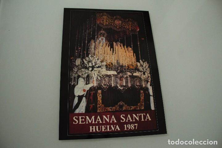 CARTEL DE SEMANA SANTA HUELVA PERIÓDICO ODIEL AÑO 1987 (Coleccionismo - Carteles Gran Formato - Carteles Semana Santa)