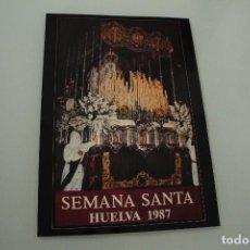 Carteles de Semana Santa: CARTEL DE SEMANA SANTA HUELVA PERIÓDICO ODIEL AÑO 1987. Lote 234398765