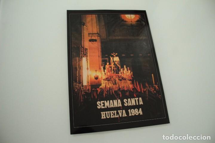 CARTEL DE SEMANA SANTA HUELVA PERIÓDICO ODIEL AÑO 1984 (Coleccionismo - Carteles Gran Formato - Carteles Semana Santa)