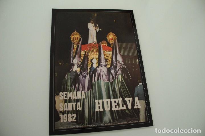 CARTEL DE SEMANA SANTA HUELVA PERIÓDICO ODIEL AÑO 1982 (Coleccionismo - Carteles Gran Formato - Carteles Semana Santa)