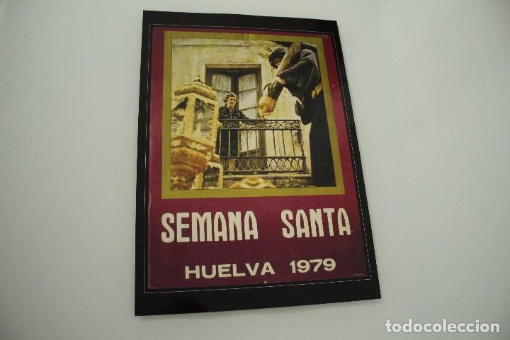 CARTEL DE SEMANA SANTA HUELVA PERIÓDICO ODIEL AÑO 1979 (Coleccionismo - Carteles Gran Formato - Carteles Semana Santa)