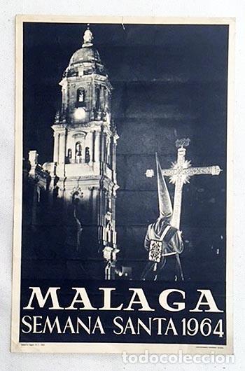 CARTEL. MÁLAGA. SEMANA SANTA 1964. CARTEL FOTOGRÁFICO. HUECOGRABADO. 32X21 (Coleccionismo - Carteles Gran Formato - Carteles Semana Santa)