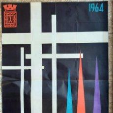 Carteles de Semana Santa: CARTEL SEMANA SANTA CARTAGENA 1964 J CAROT LITOGRAFIA ORIGINAL PL. Lote 234640985