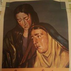 Carteles de Semana Santa: SEMANA SANTA ZAMORA. 1961. DIFICILISIMO CARTEL. 70 X 50 CM. FOURNIER. VITORIA. Lote 236861880