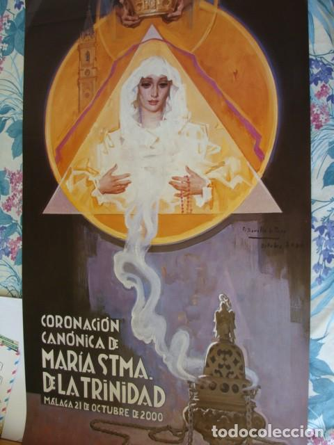 CARTEL S.SANTA DE MALAGA 2000, CORONACION STA, TRINIDAD 38X60 (Coleccionismo - Carteles Gran Formato - Carteles Semana Santa)