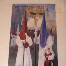 Carteles de Semana Santa: CARTEL SEMANA SANTA MALAGA , HERMANDAD DE LA SALUUD, 2004, 38X60. Lote 236869875