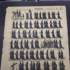 Carteles de Semana Santa: CARTEL QUE ILUSTRA LA PROCESIÒN DE SEMANA SANTA DE LA CONGREGACION DE LA BUENA MUERTE, BARCELONA. Lote 244019385